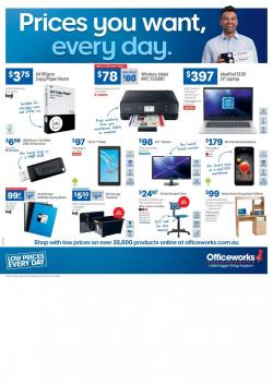 Officeworks Catalogue Electronics Apr 2019